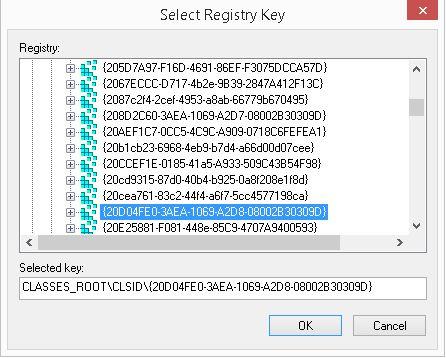 selectregistrykey